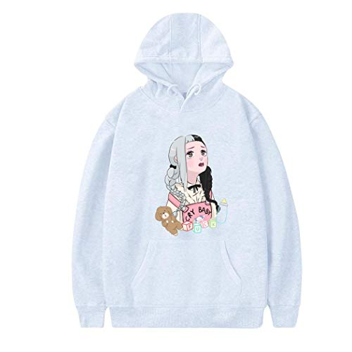 TWUor Cry-baby-12 Womens Casual Hoodie Printed Sweatshirt Fashion Pullover Adult Long Sleeve S White