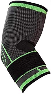 elbow Brace Compression Support Sleeve with Adjustable Strap for Tendonitis, Tennis elbow, Golfer's elbow, Arthritis, Bask...