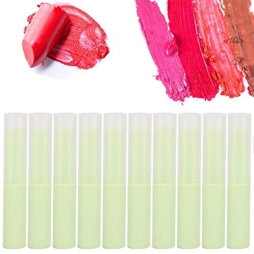 Tubo de bálsamo labial vacío 10 piezas Tubo de bálsamo labial vacío Contenedor de brillo labial Accesorio de fabricación de lápiz labial DIY(12#)