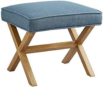 Amazon Brand Rivet Mid-Century Modern X Stool Ottoman Chair