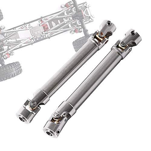 RZXYLRC SCX10 RC - Albero di trasmissione universale per auto, in acciaio inox, CVD Dogbone per 1/10 Axial SCX10 RC Crawler 100-150 mm (2 pezzi)