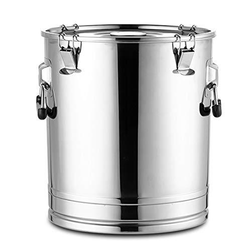 WKDZ Contenedor de acero inoxidable para almacenamiento de barril de leche Ghee de acero inoxidable, 25 L
