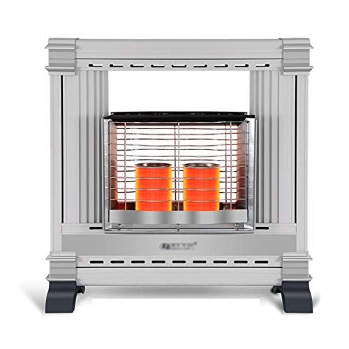 QILIN Household Heater, Propane Gas Indoor Heater, 2750W/5500W, 360° Heating, Multiple Protection Devices, Dark Light, No Noise, 30-80M² Heating