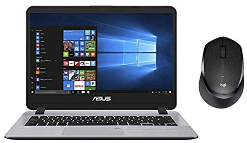 ASUS VivoBook X407UA-EK558T 14.0-inch Thin and Light Laptop+Logitech Mouse