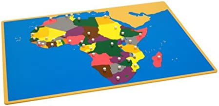 Kid Advance Montessori Puzzle Map of Africa with Control Maps