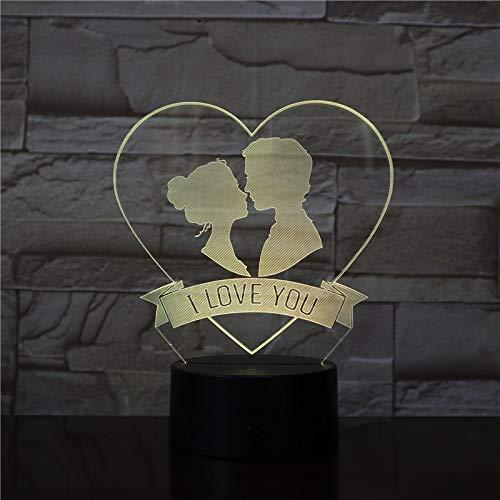 Ich Liebe Dich Nachtlicht Acryl Platte Touch Base Paar süßes Geschenk Hochzeitsgeschenk