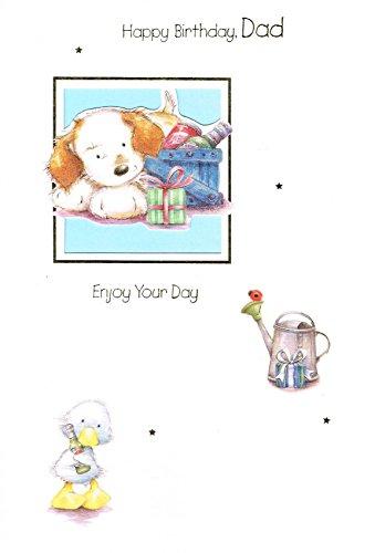 MDB 'Geburtstagskarte Dad (31144–)–22,9x 15,2cm mit Ausschnitt und Innere Formulierung Tabelle