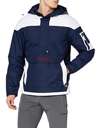 Columbia Challenger Veste Pullover Homme, Bleu, Blanc (Collegiate Navy, White), Taille XL