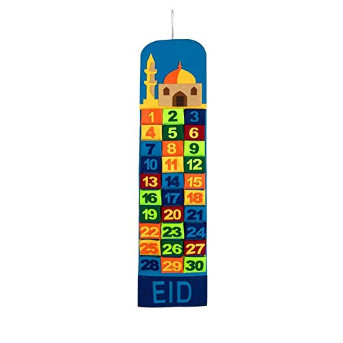 Ramadan Mubarak Calendar Hanging Felt Countdown Calendar 30 Days Eid Mubarak Ramadan Decoration Supplies