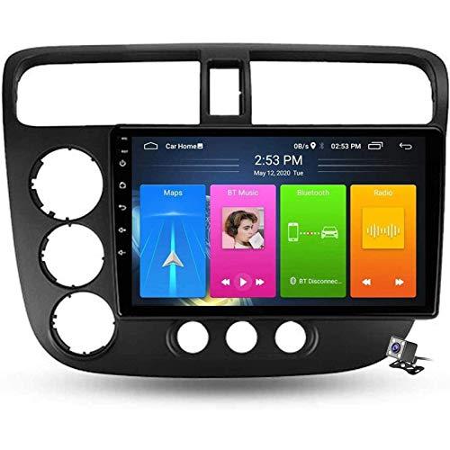 LNHJZ Android 9.0 Car Stereo Radio Double DIN Compatible con Honda Civic 7 2000-2006 Navegación GPS Pantalla táctil 9 Pulgadas Reproductor Multimedia MP5 Receptor Video con 4G DSP Carplay