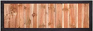 Outdoor_Essentials Two-Tone Wood Fence Panel with Black Frame