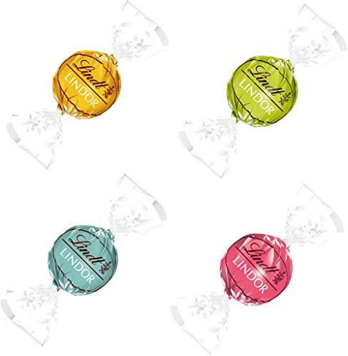 Lindt Lindor Kugeln Sommer Mix Mango Citrus Cocos Erdbeer-Sahne Weisse und Vollmilch Schokolade 3 x 137 gr.