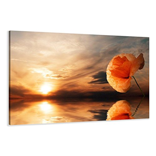 Visario Leinwandbilder 5022 Bild auf Leinwand Strand, 120 x 80 cm