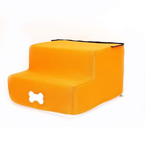 ZHTX Hunde-Treppen-Treppenhund-Treppen-Hundestufen-Treppenhaus-Treppenhaus (Color : Orange, Size : Two Layers)