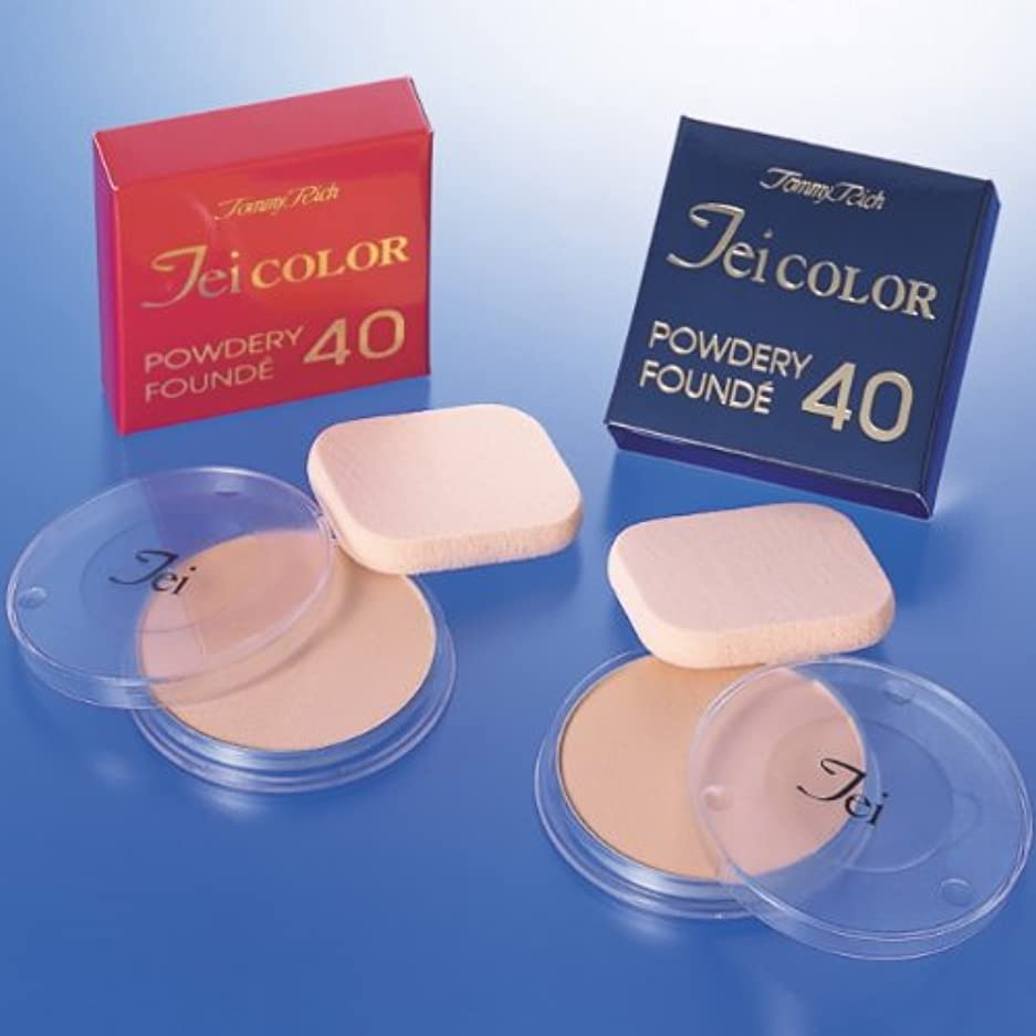 回答熟す競争化粧持ちが格段に良くなり、薄化粧なのに、化粧映えのする『Teiカラーパウダリーファンデ40』 (40A(普通肌用))