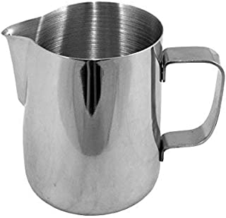 THW Stainless Steel Milk Frothing Latte Pourer Cappuccino Coffee Jug, 600 ML