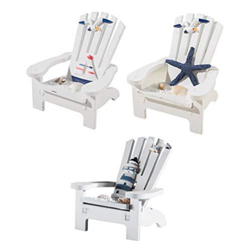 Garneck 4 Stücke Mini Strandstuhl Deko Strandkorb Miniatur Möbel Puppenhaus Gartenmöbel Liegestuhl für Tischdeko Fee Garten Mittelmeer Deko Mikrolandschaft Strand Stuhl