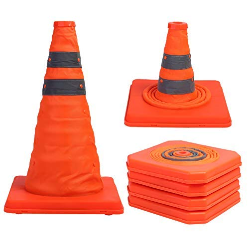 Sunnyglade 4 Pack 15.5 inch Collapsible Traffic Cones Multi...