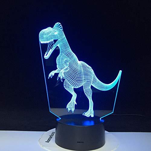 Jiushixw 3D acryl nachtlampje met afstandsbediening van kleur veranderende tafellamp veel dinosaurus thema kinderverjaardag sfeervol juweel druppels kleine koperen tafellamp