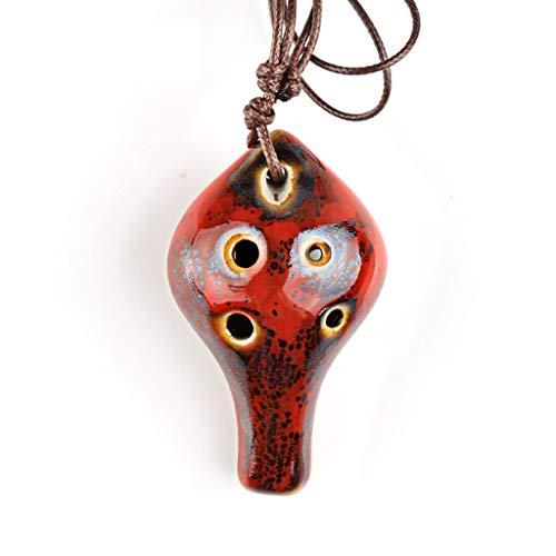 OKarna Sechs-Loch Ocarina Farbe Alto C Ocarina Holz Blasinstrument for Kinder Special Style Geschenke Okarina flöte