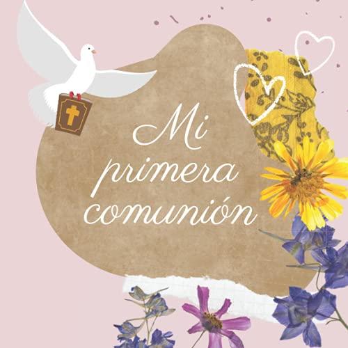 Libro de firmas comunion: Libro de comunión personalizado e original - Regalo para primera comunión de niño o niña. Español