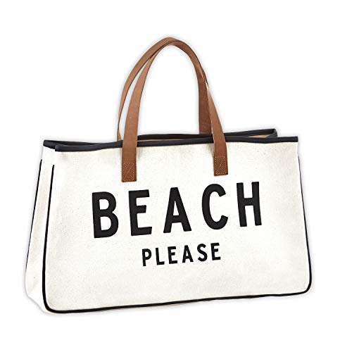 Creative Brands D3713 Hold Everything Tote Bag, 20' x 11', Beach Please Black and White