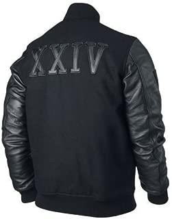 Febzo Fashions Michael B Jordan Kobe Destroyer XXIV Battle Wool and Leather Sleeves Jacket