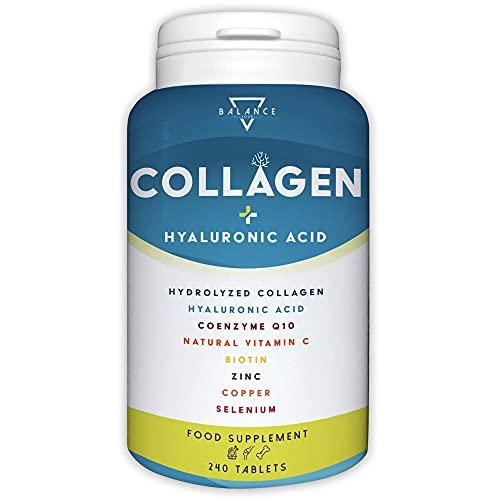 COLLAGENE IDROLIZZATO 2000MG - 240 COMPRESSE | Collagene Acido Ialuronico Integratore |...