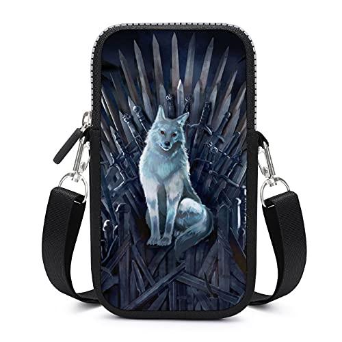 Game Thrones TV Show Crossbody Bolso de teléfono para mujer Bolsa de teléfono celular Crossbody Bolso de hombro monedero.