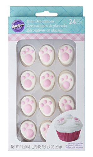 Wilton Industries Easter Bunny Feet Icing Decorations