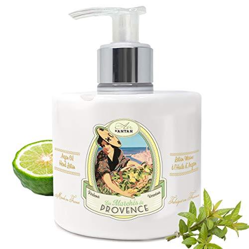 Handcreme Provence Verbena- Großformat Pumpe 300 ml Un Air d'Antan®/ Handlotion mit Arganöl angereichert/Handbalsam In Frankreich hergestellt/Für Sehr Trockene Und Rissige Hände
