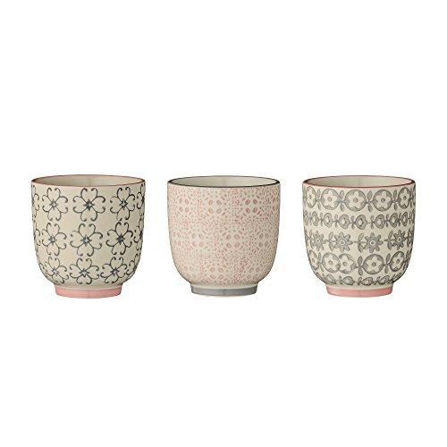 Bloomingville kleine Becher Cécile, rosa grau, Keramik, 3er Set