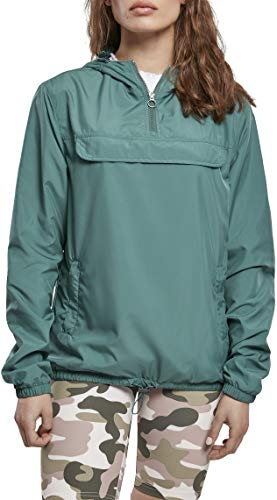 Urban Classics Damen Ladies Basic Pull Over Jacket Windjacke, paleleaf, M