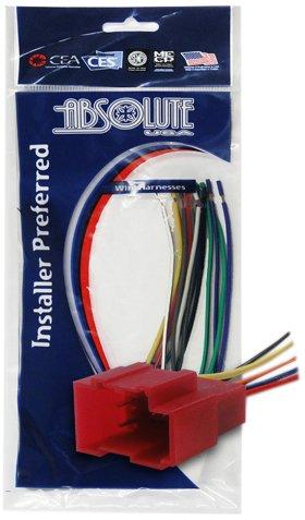 Absolute USA H1108/7302 Radio Wiring Harness for Hyundai Santa Fe 2007-2008 Power 4 Speaker (70-7302,HWH-1108)