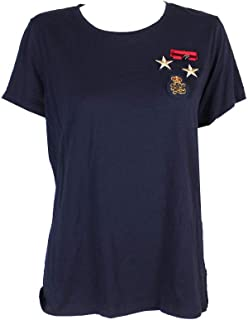 Ralph Lauren Womens Patchwork Basic T-Shirt