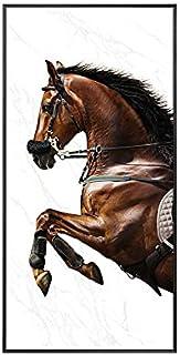 paintings 1 panneau sur toile avec gravure cheval - Art mural - Décoration d'intérieur moderne - Couleur : noir - Dimensio...