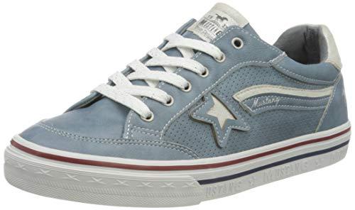 MUSTANG Mädchen 5056-301 Sneaker, Blau (Sky 875), 40 EU