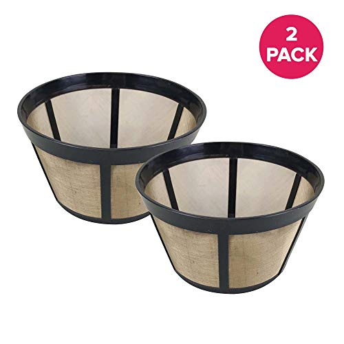 Think Crucial Replacement Coffee Filter - Compatible with Bunn Coffee Makers (18 Ounces) Part # C60666 Permanent Coffee Filters ? Fits Most Bunn BX, BTX, GRX, NHB, NHS, ST, HG & H Models ? (2 Pack)