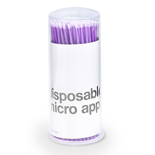 Mini brosse à cils 3 types 100 pcs / boîte femmes micro mascara extension brosse cils nettoyage (3 #)