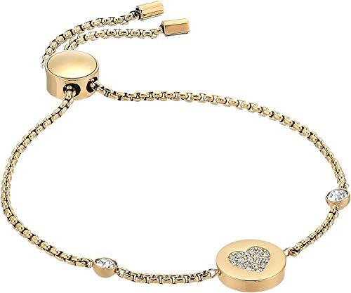 Michael Kors Symbols Gold-Tone Bracelet, Gold Heart Pendant, 8.5