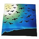 BINLAN Paño Lavable de Las servilletas de la Cena de la Luna Llena de los murciélagos del Horror para el Restaurante