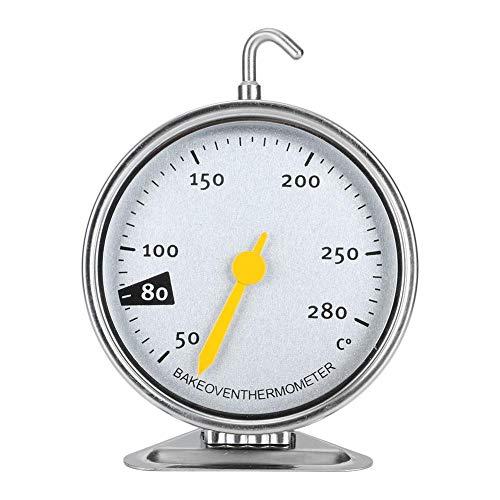 Edelstahl-Ofenthermometer Sofortablesung Großes Backblech-Backofenthermometer mit Haken Küchenkoch-Messwerkzeuge (Messbereich 50-280 ℃)