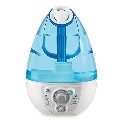 Ultrasonic Humidifier and White Noise Machine | Plays 4 Baby Lullaby Sounds,...