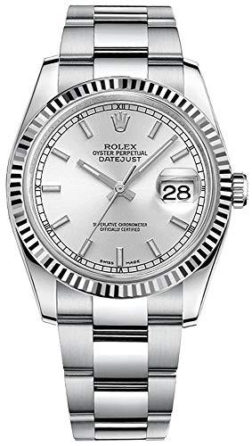 Women's Rolex Datejust 36 Silver Dial Oyster Bracelet Luxury Watch Ref. 116234-SLVSFO