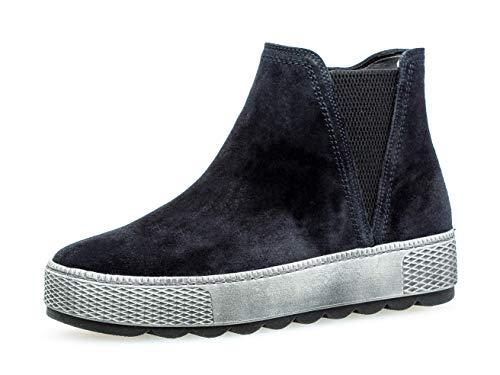 Gabor Damen Stiefelette/Röhrli 36.560, Frauen Chelsea Boots,Stiefel,Halbstiefel,Bootie,Schlupfstiefel,flach,Pazifik (Mel.),40 EU / 6.5 UK