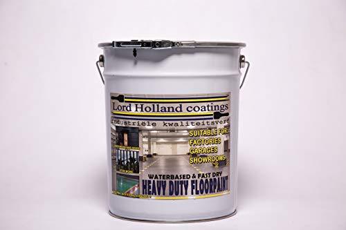 Pintura de suelo muy resistente a base de agua, calidad profesional, color RAL original, gris