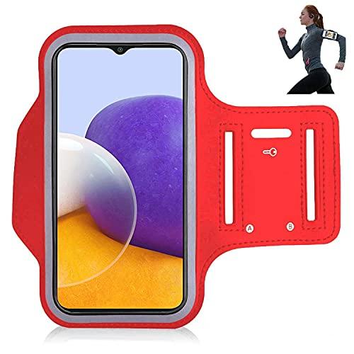 iPro Accessories Funda compatible con Samsung A22, Samsung A22 Brazalete [Brazalete] Deportes, Correr, Caminar, Senderismo, Entrenamiento y Ejercicio Brazalete Case (Rojo)