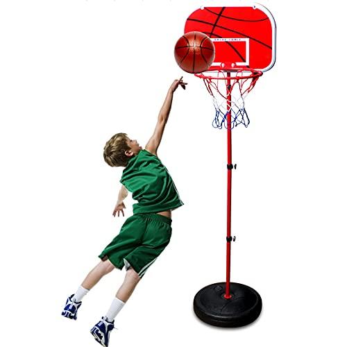 PBTRM Canasta Baloncesto Infantil, Aro Baloncesto para Niños, Altura Ajustable 49 Cm A 148 Cm, Aros Baloncesto Interior Juguetes para Niños Niñas Bebés Niños Deportes Aire Libre