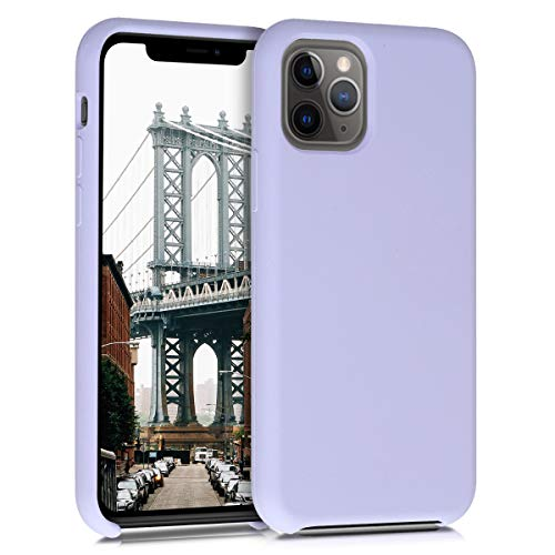 kwmobile TPU Silicone Case Compatible with Apple iPhone 11 Pro Max - Soft Flexible Rubber Protective Cover - Light Lavender