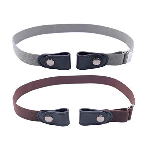Healifty 2 Piezas Pantalones elásticos Extensores de Cintura Cinturones Ajustables para Pantalones...
